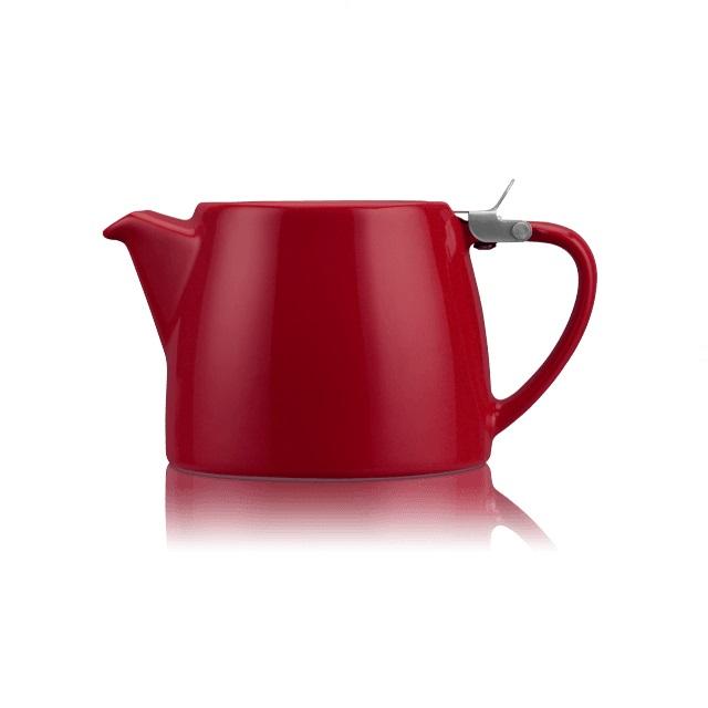Porcelánová konvička na čaj 0,55 l burgundy, STUMP - ForLife