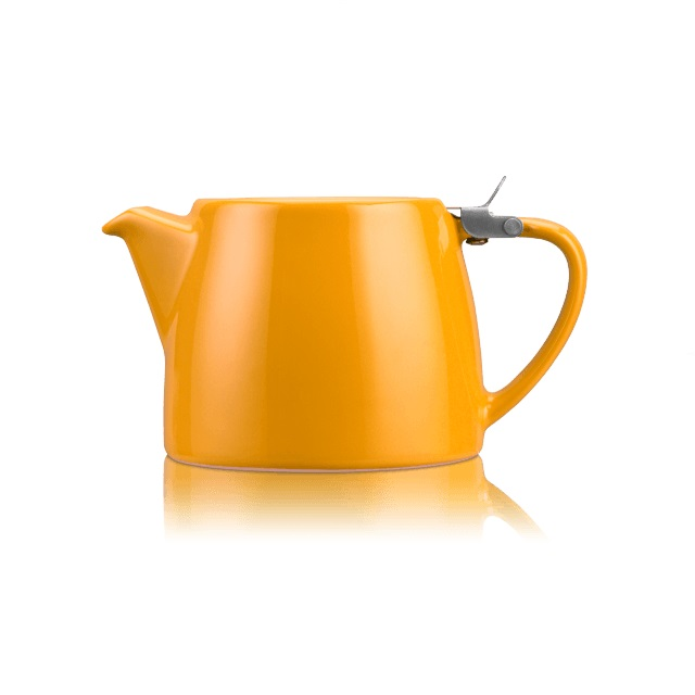 Porcelánová konvička na čaj 0,55 l mandarinková, STUMP - ForLife