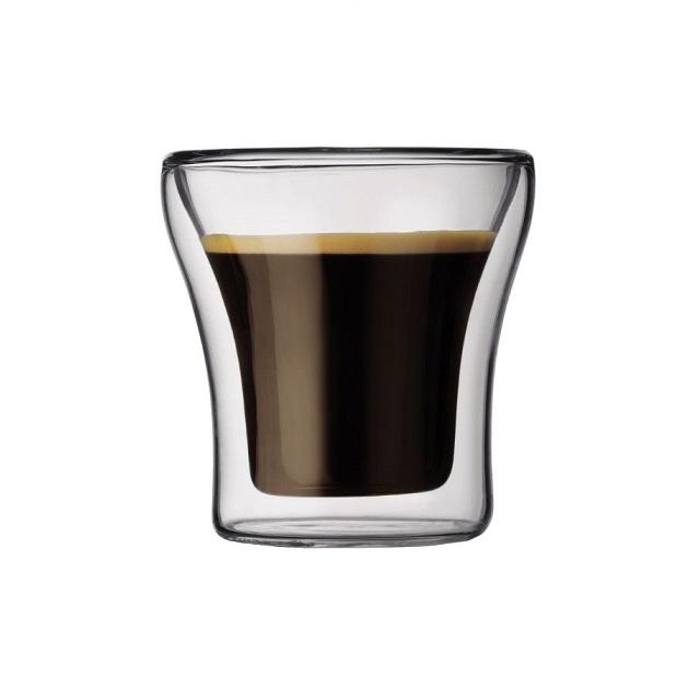 Set dvoustěnná sklenice 2 ks 0,1 l, ASSAM - BODUM