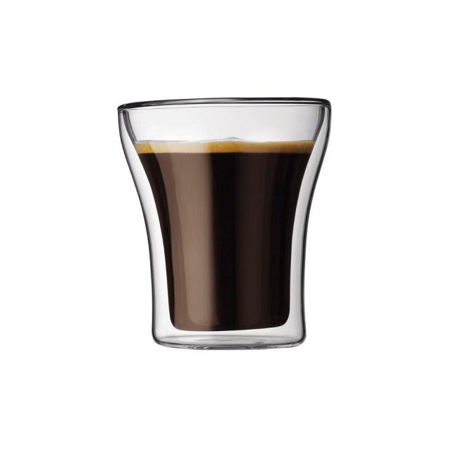 Set dvoustěnná sklenice 2 ks 0,2 l, ASSAM - BODUM