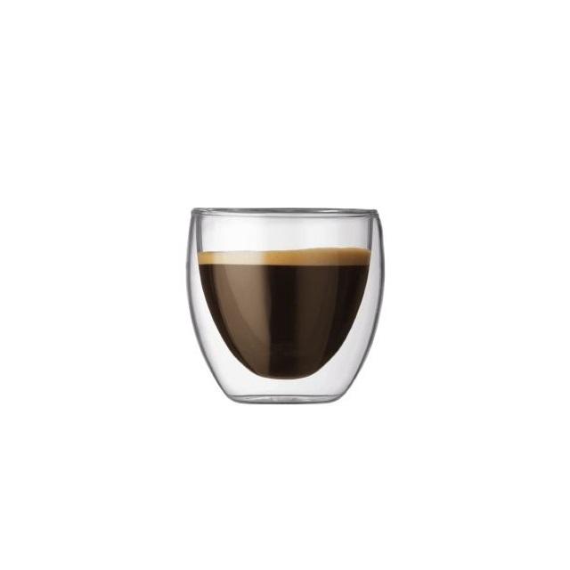 Set dvoustěnná sklenice 2 ks 0,08 l, PAVINA - BODUM