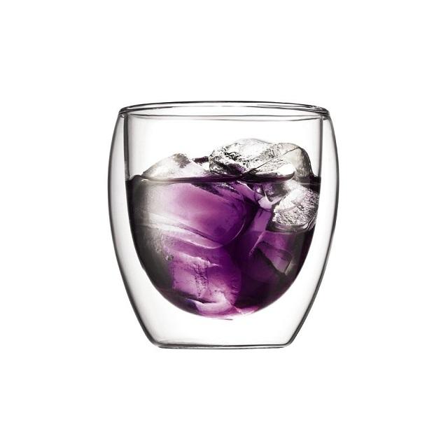 Set dvoustěnná sklenice 2 ks 0,25 l, PAVINA - BODUM