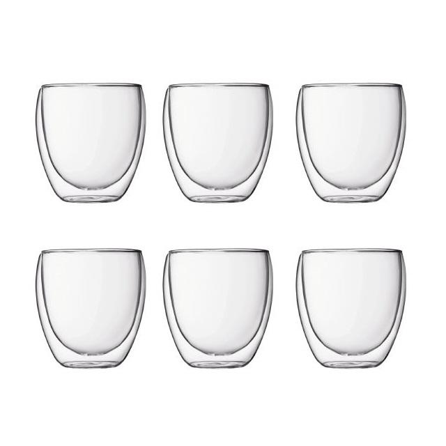 Dvoustěnná sklenice 6 ks 0,25 l, PAVINA - BODUM