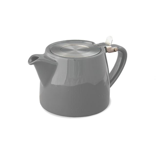 Porcelánová konvička na čaj 0,4 l šedá, STUMP - ForLife