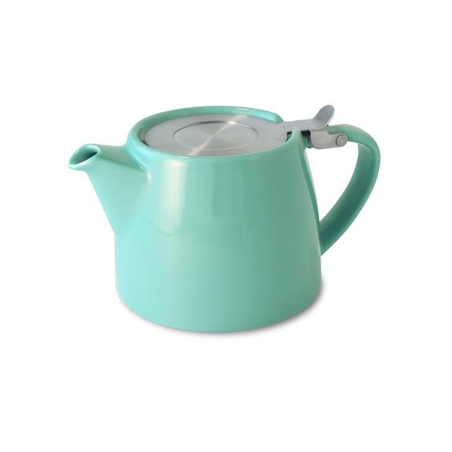 Porcelánová konvička na čaj 0,4 l tyrkysová, STUMP - ForLife