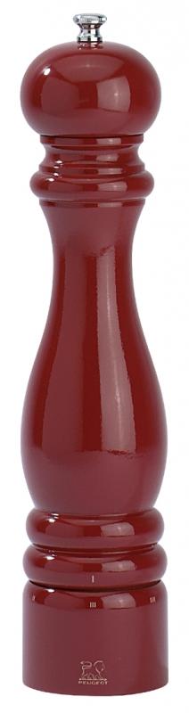 Dřevěný mlýnek na sůl 22 cm červený lesk PARIS - Peugeot