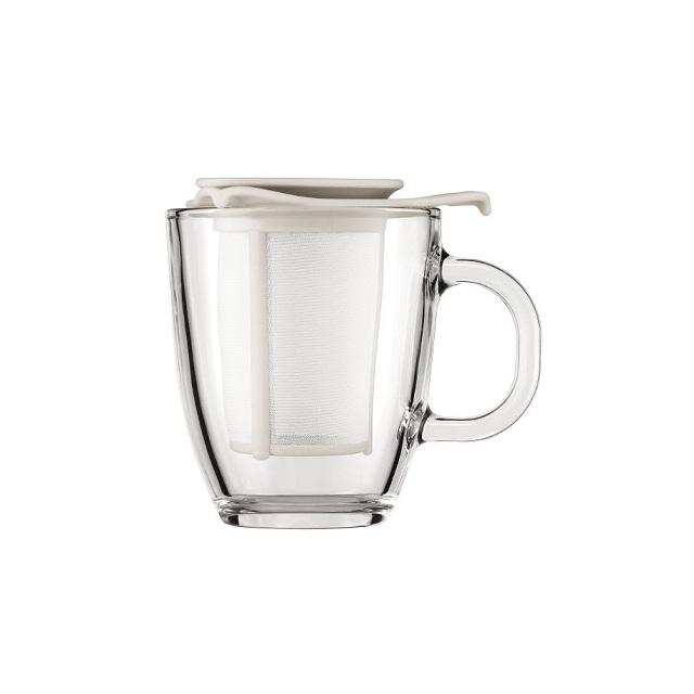 Hrnek na čaj se sítkem 0,35 l bílý, YO-YO - BODUM