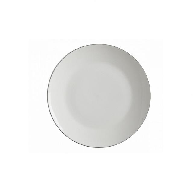 Dezertní talíř 19 cm, WHITE BACICS EDGE - Maxwell&Williams