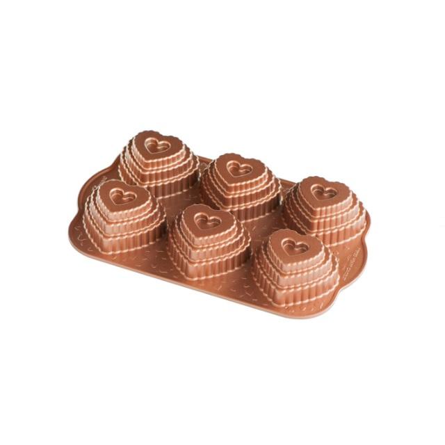 Forma na 6 dortíků, SRDÍČKA - NORDIC WARE