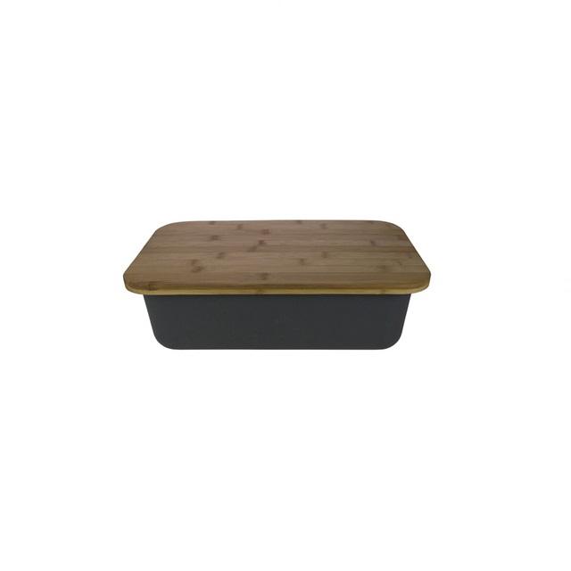 Bambusový chlebník s bambusovým prkénkem - GUSTA