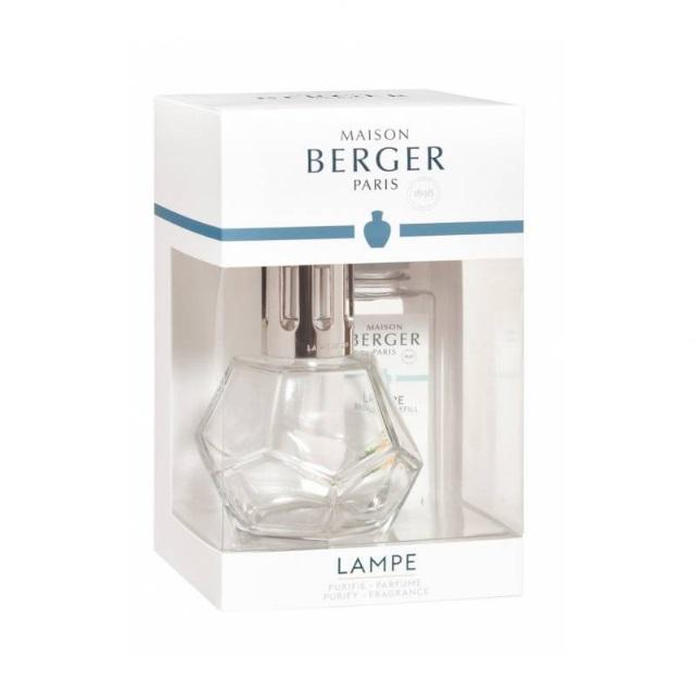 Katalytická lampa transparentní, GEOMETRY + 180 ml Verbena - MAISON BERGER PARIS