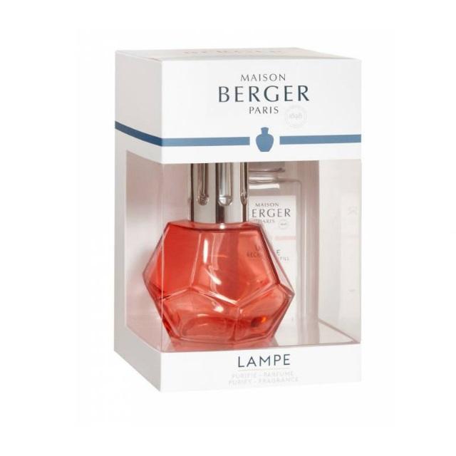 Katalytická lampa červená, GEOMETRY + 180 ml Paris Chic - MAISON BERGER PARIS