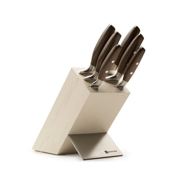 Blok s noži 6 ks krémový EPICURE - Wüsthof Dreizack Solingen