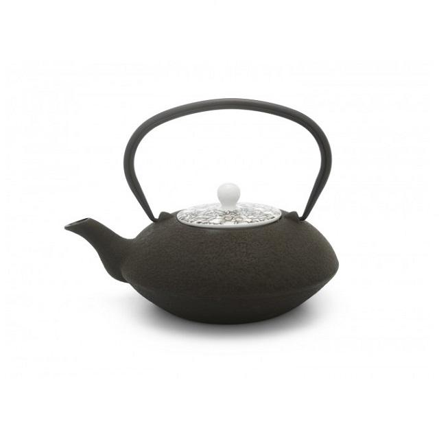Konvička na čaj s porcelánovým víkem hnědá 1,2l Yantai - Bredemeijer