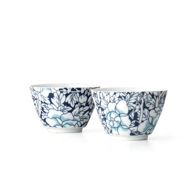 Šálky na čaj 2 ks modré Yantai - Bredemeijer
