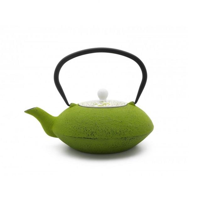Konvička na čaj s porcelánovým víkem zelená 1,2l Yantai - Bredemeijer