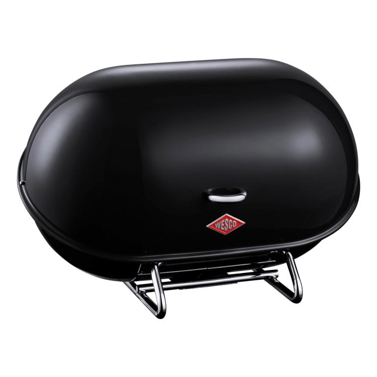 Chlebník Single Breadboy 34 x 21 x 23 cm, černý - Wesco