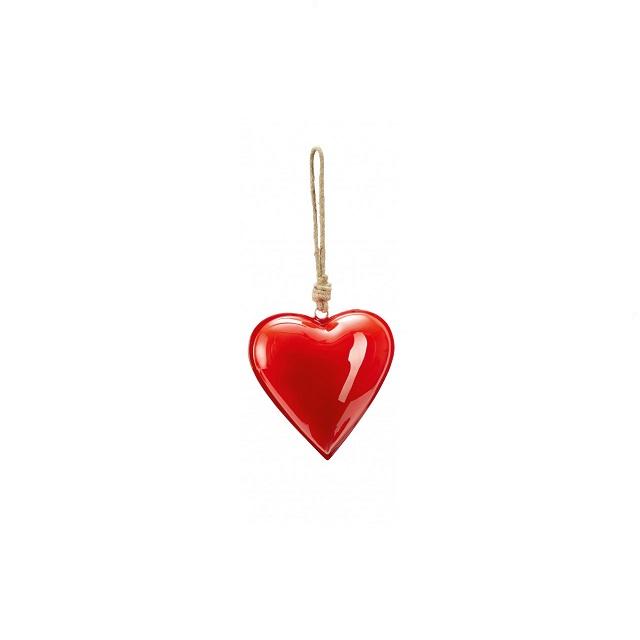 Kovové srdce 14 cm červené HAMBURGER HERZ - PHILIPPI