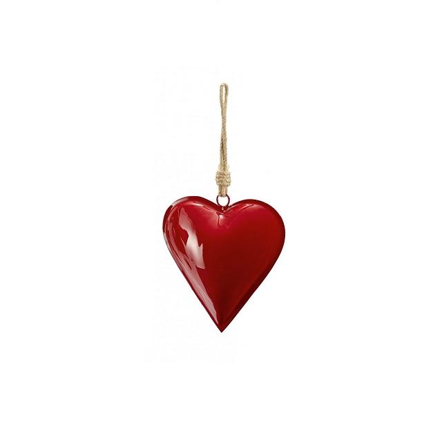 Kovové srdce 17 cm tm. červené HAMBURGER HERZ - PHILIPPI