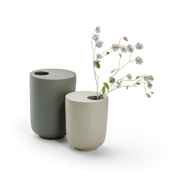 Váza 14 cm šedo zelená KOODOO - PHILIPPI