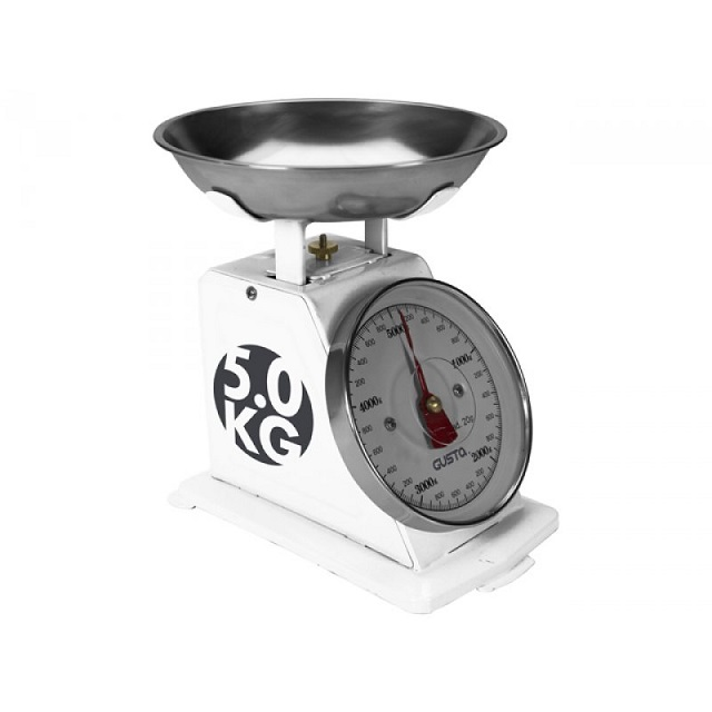 Kuchyňská retro váha bílá - GUSTA