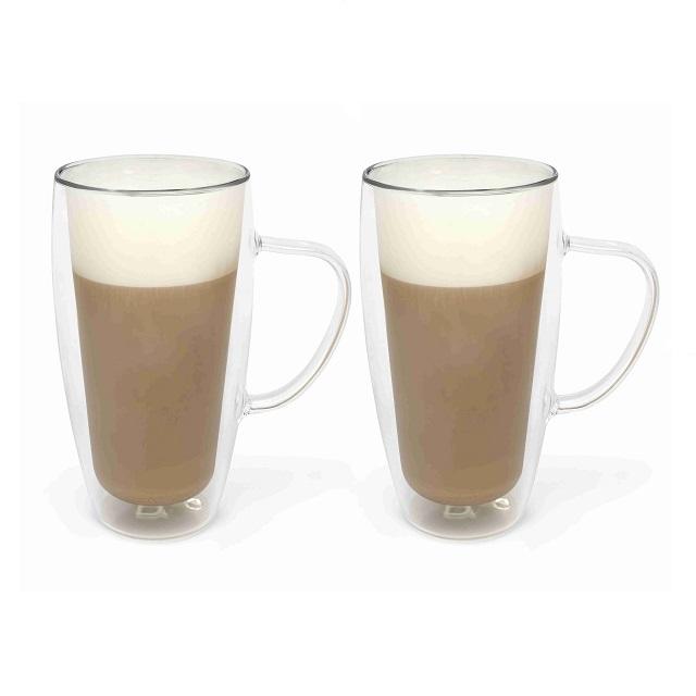 Dvoustěnný hrnek na Cappuccino 400ml 2 ks - Bredemeijer