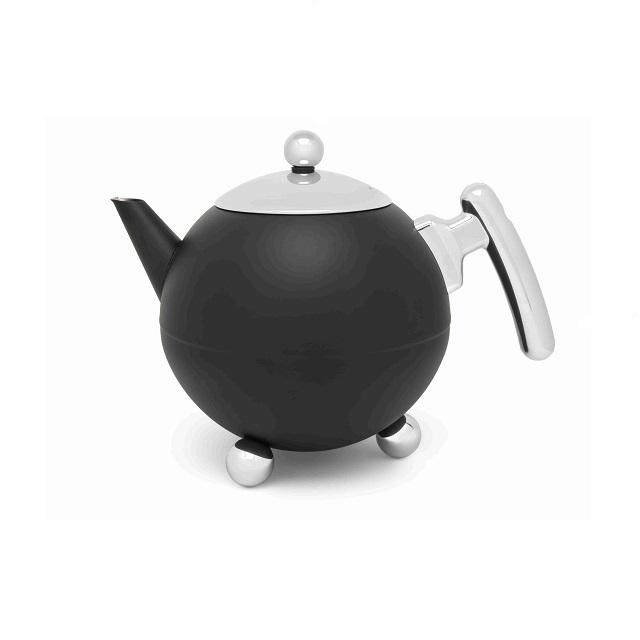 Konvička na čaj 1,2L matná černá Bella Ronde - Bredemeijer