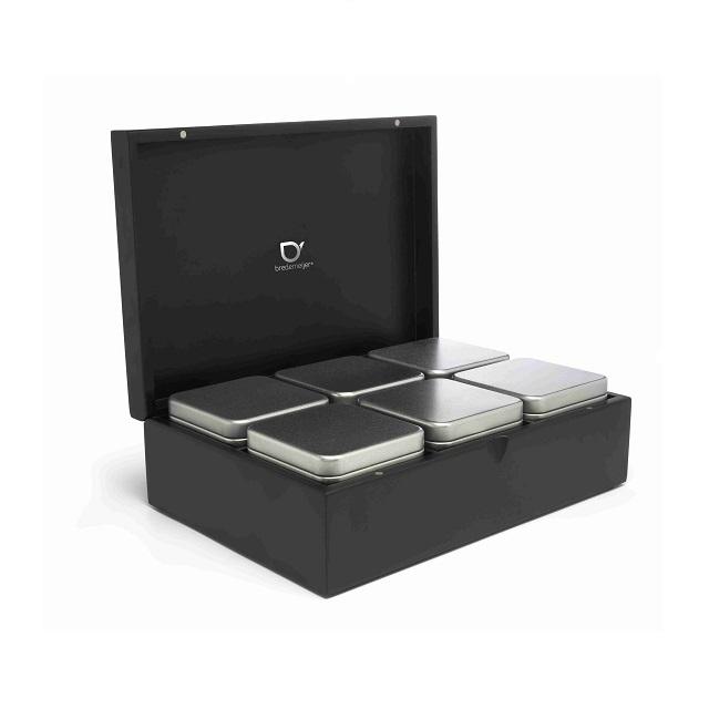 Krabička na čaj + 6 dóz na sypaný čaj - Bredemeijer