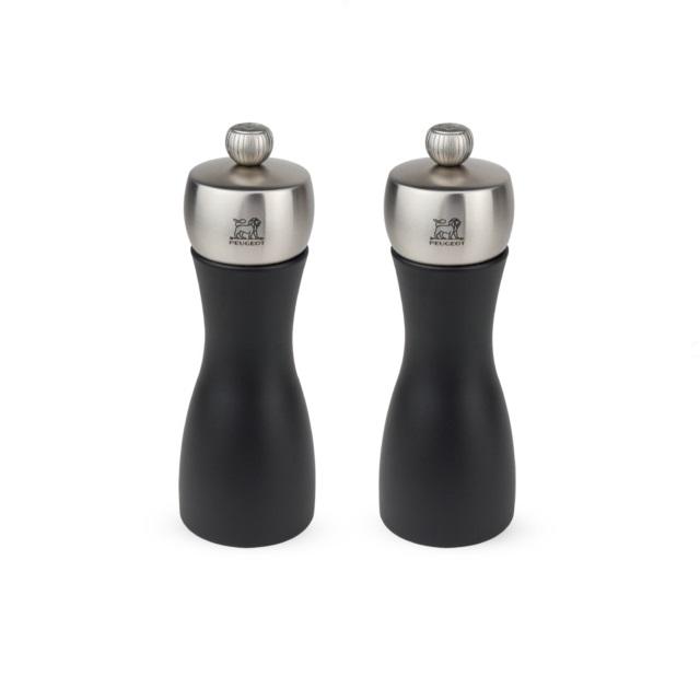Set mlýnků na pepř/sůl 15 cm černá FIDJI - PEUGEOT