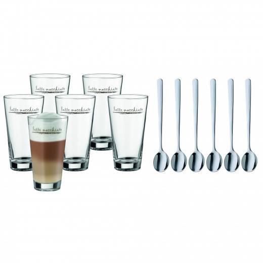 Set na latte macchiato + lžičky 6ks - WMF