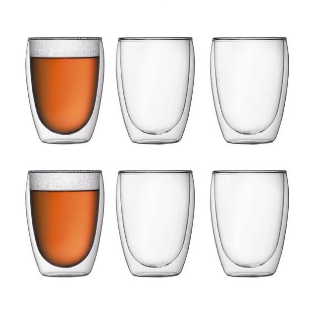 Dvoustěnná sklenice 6 ks 0,35 l, PAVINA - BODUM