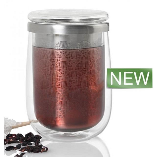 Hrnek na čaj s infuzérem 400ml FUSION GLASS - AdHoc