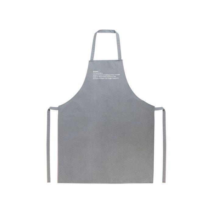 Grilovací zástěra 70 x 85 cm šedá - Gusta
