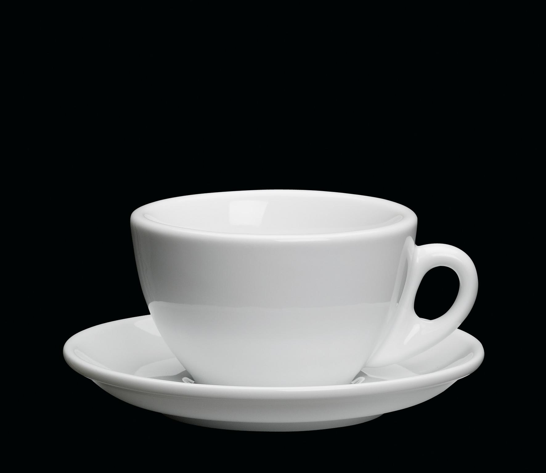 Porcelánový šálek na Cappuccino ROMA bílý 100 ml - Cilio