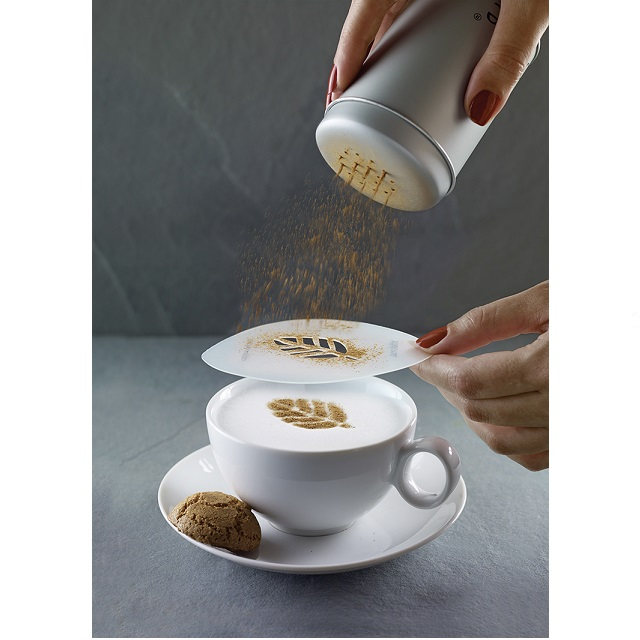 Zdobící šablony na cappuccino 6 ks ART - Cilio