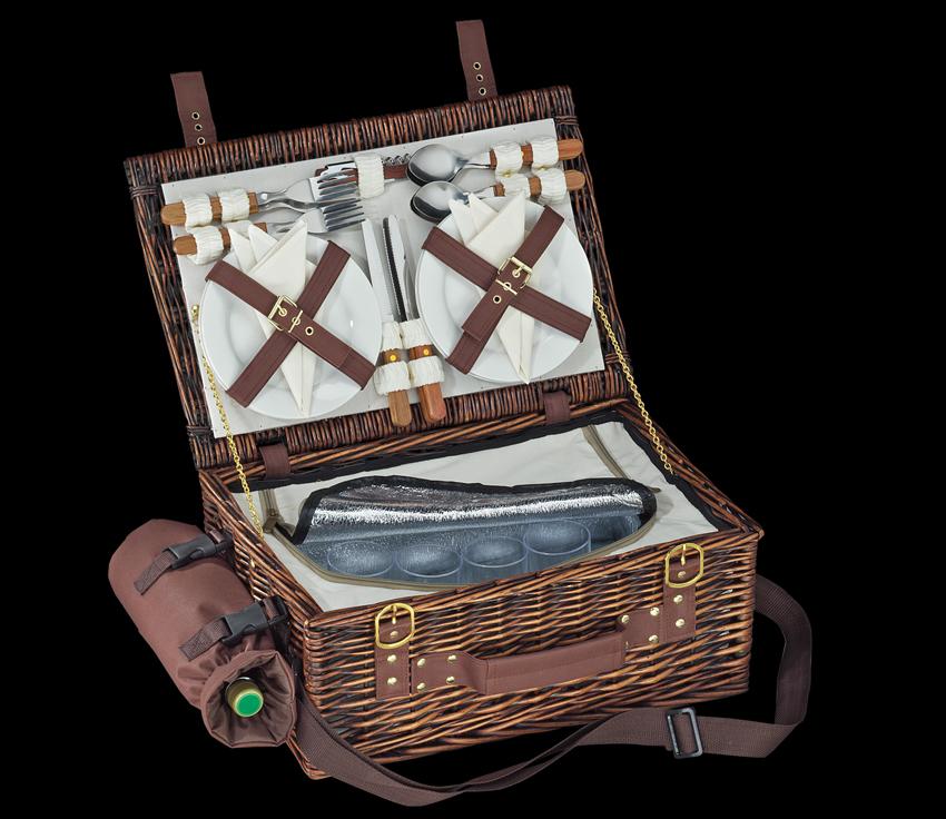 Piknikový koš tmavě hnědý VARESE - Cilio