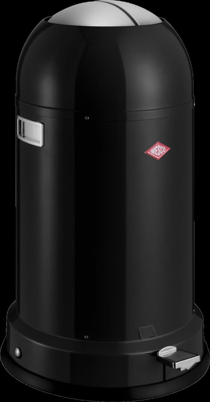Odpadkový koš Kickmaster Classic Line Soft 33l, černý - Wesco