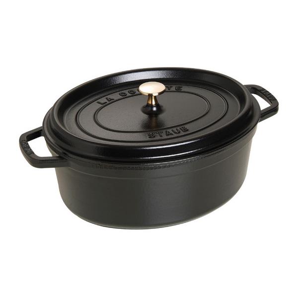 Hrnec s poklicí oválný 31 cm černá - Staub