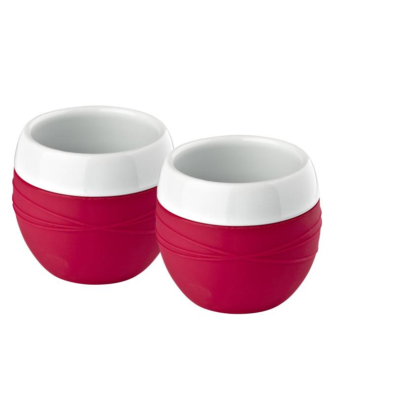 Sada hrnků 2 ks, červené, Confetti - Zone Denmark