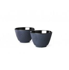 Šálky na čaj 2 ks, modré, Xilin - Bredemeijer
