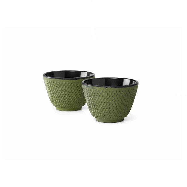Šálky na čaj 2 ks, zelené, Xilin - Bredemeijer
