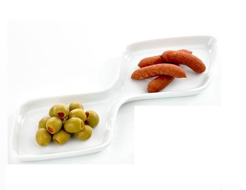 Servírovací miska dvojitá 30 cm - Galzone