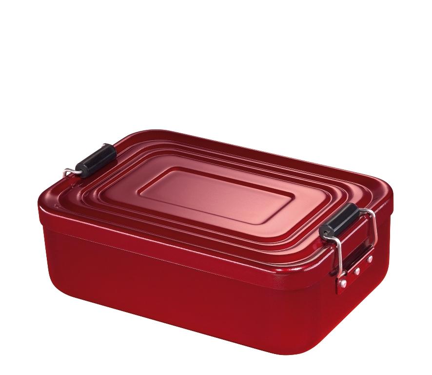 Svačinový box alu červený 7x15x23 cm - Küchenprofi