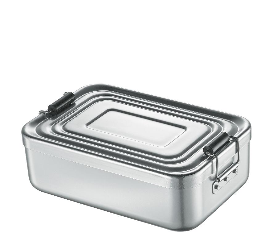 Svačinový box alu stříbrný 7x15x23 cm - Küchenprofi