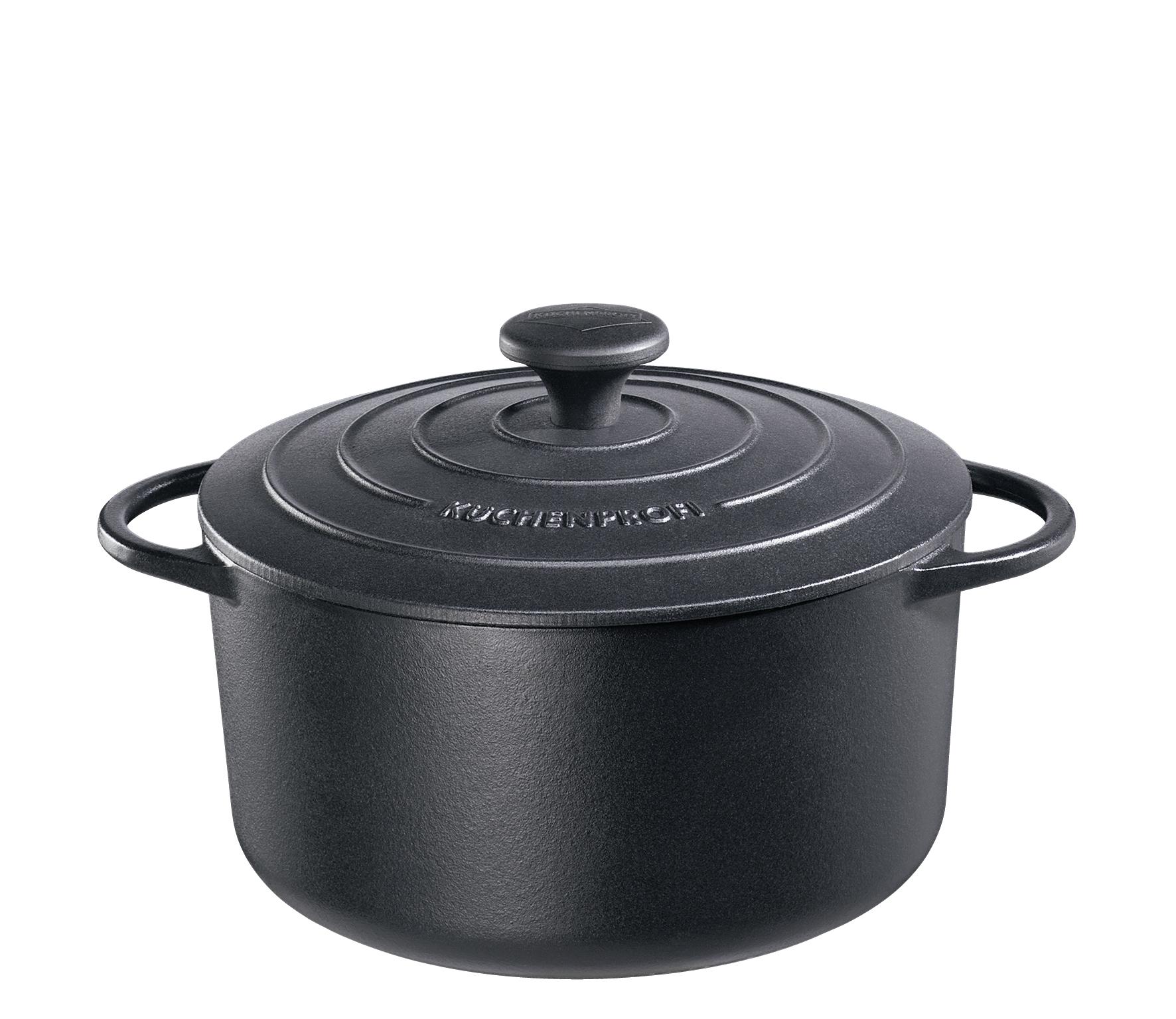 Litinový hrnec 24 cm černý Provence - Küchenprofi