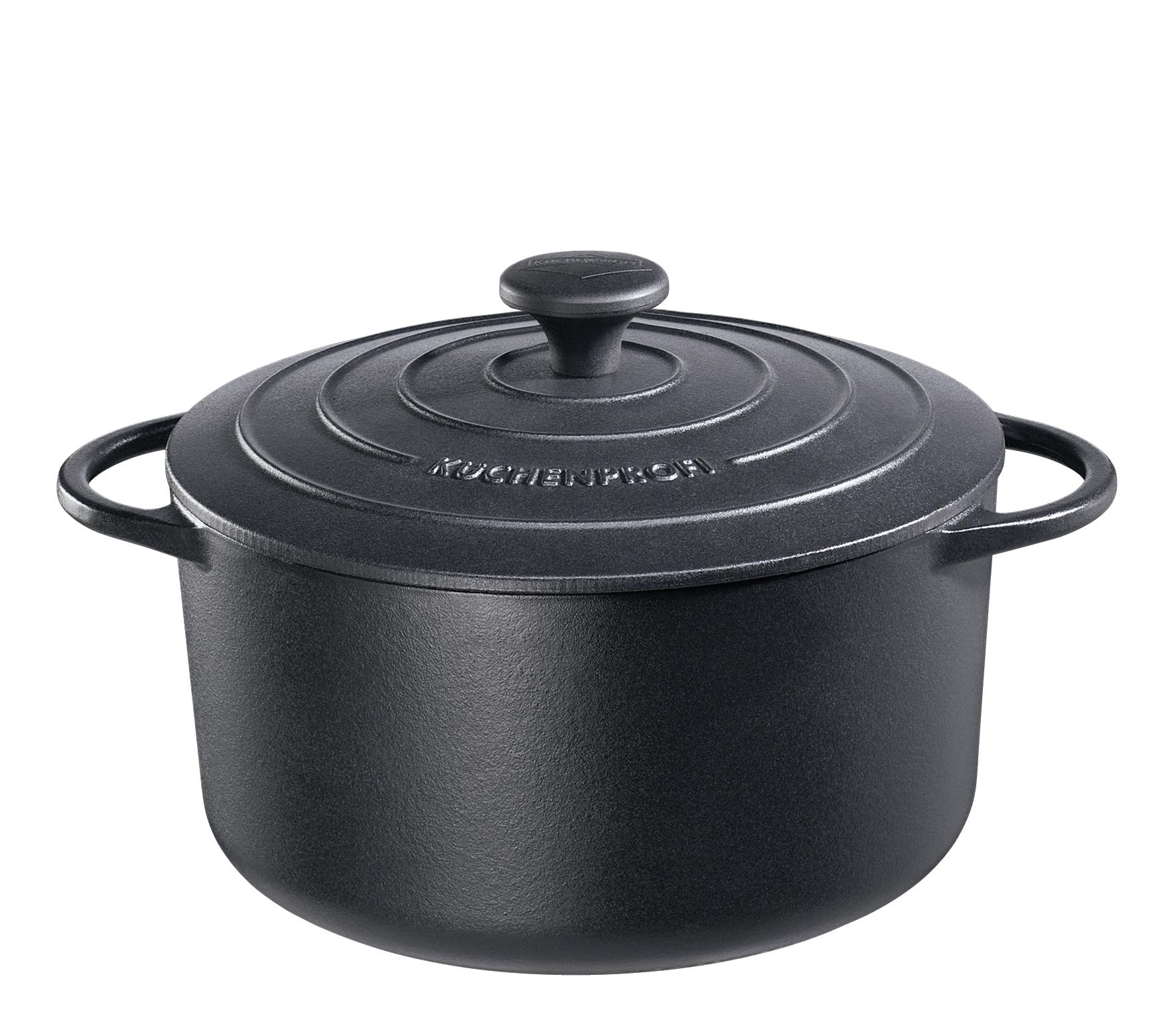 Litinový hrnec 26 cm černý Provence - Küchenprofi