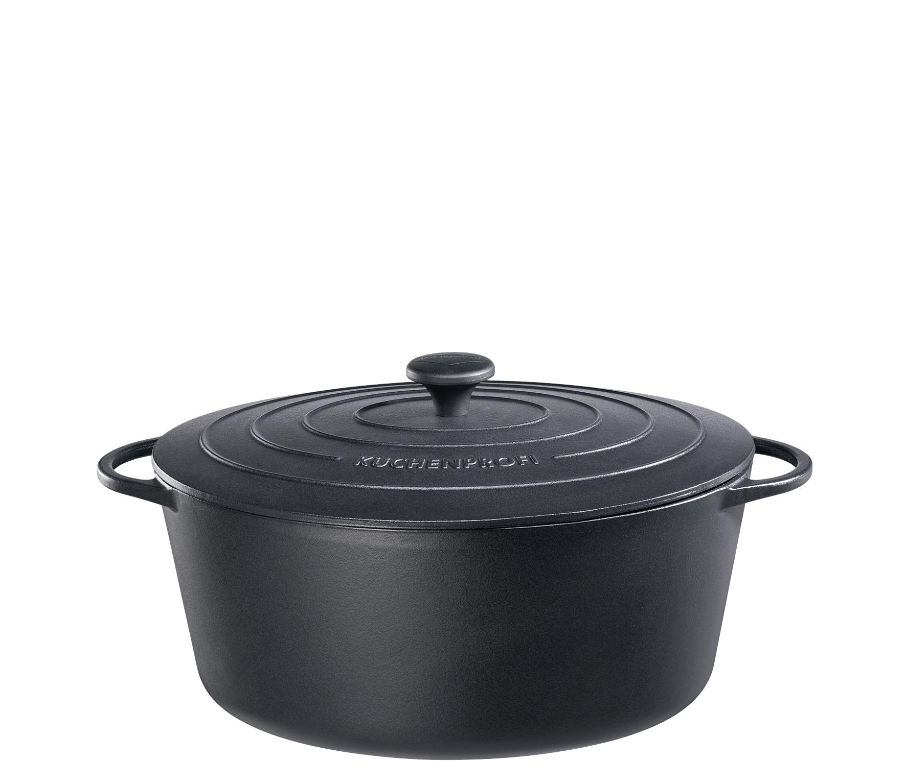 Litinový hrnec 33 cm černý Provence - Küchenprofi