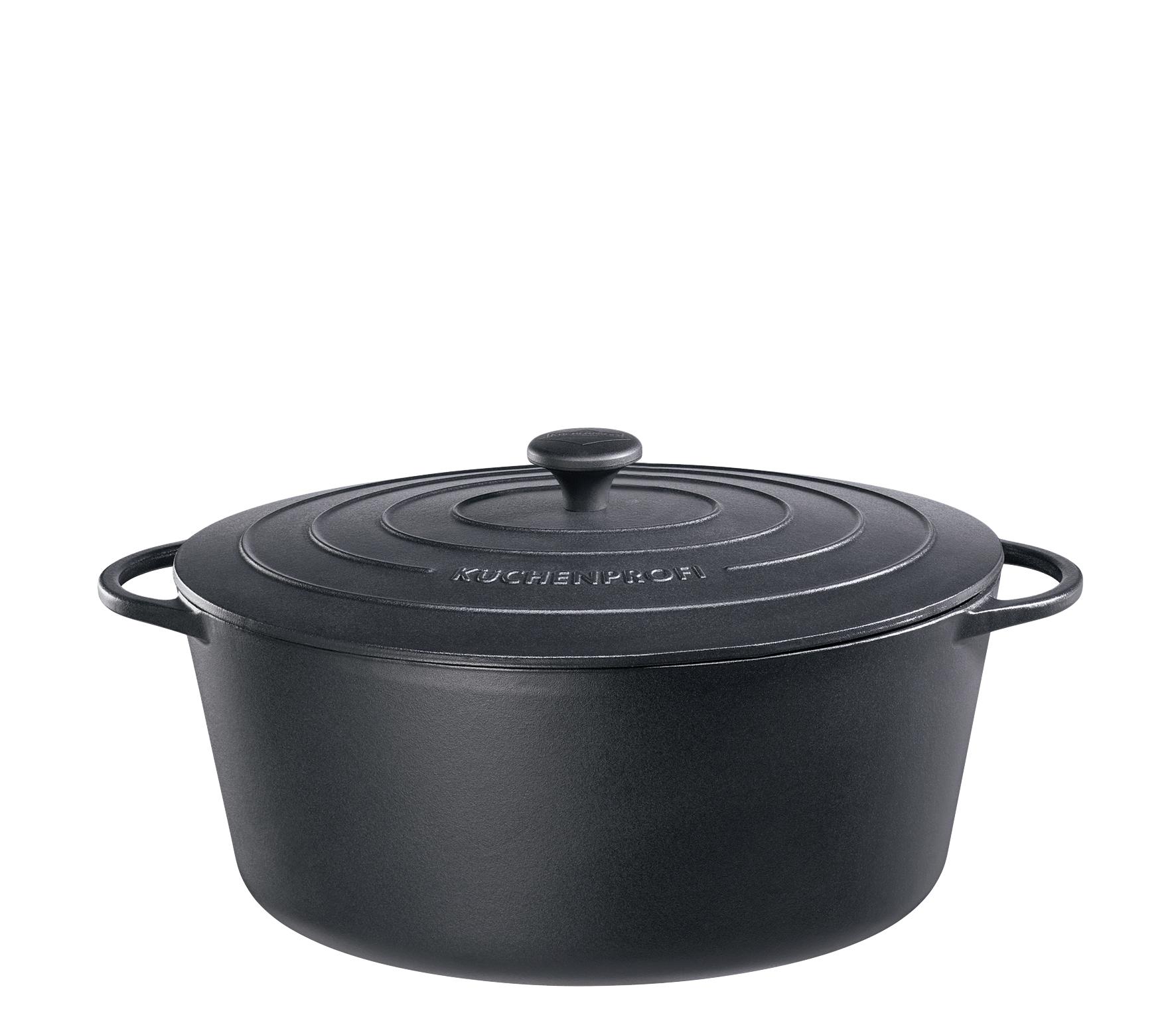 Litinový hrnec 35 cm černý Provence - Küchenprofi
