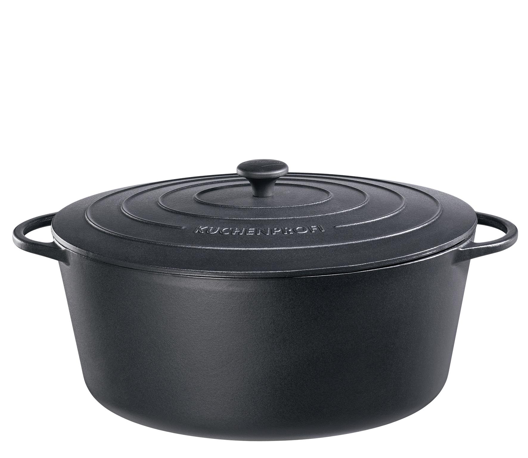 Litinový hrnec 40 cm černý Provence - Küchenprofi