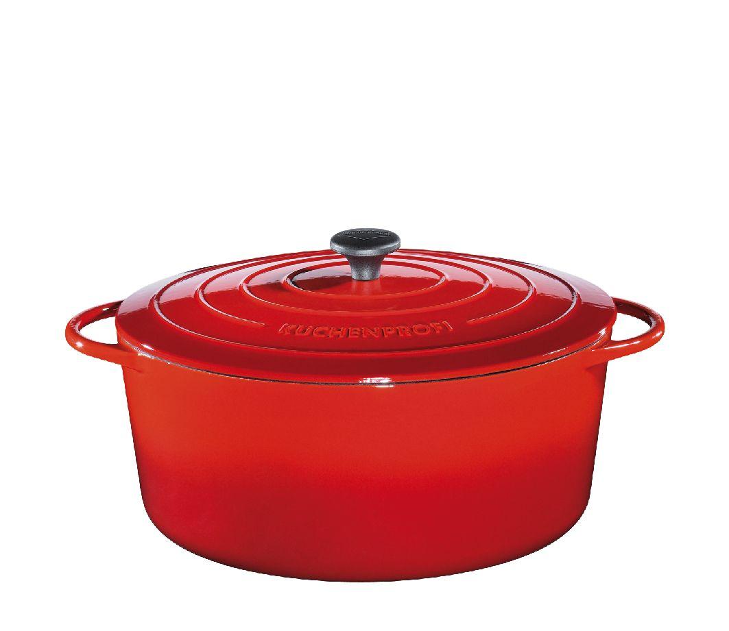 Litinový hrnec 35 cm červený Provence - Küchenprofi